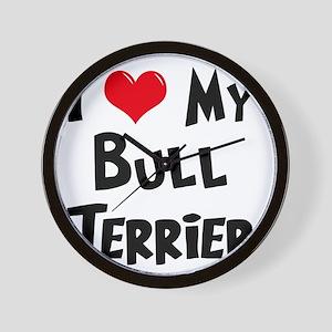 I-Love-My-Bull-Terrier Wall Clock