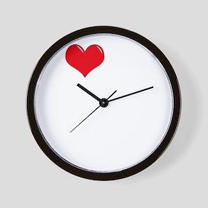 I-Love-My-Bull-Terrier-dark Wall Clock