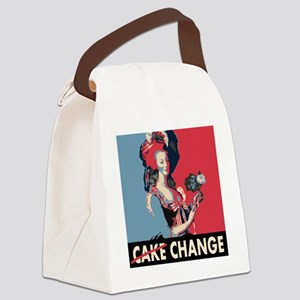 Cake change square MA copy Canvas Lunch Bag
