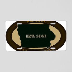 Iowa Est 1846 Aluminum License Plate