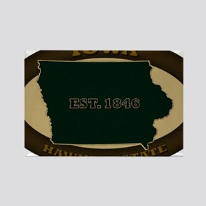 Iowa Est 1846 Rectangle Magnet