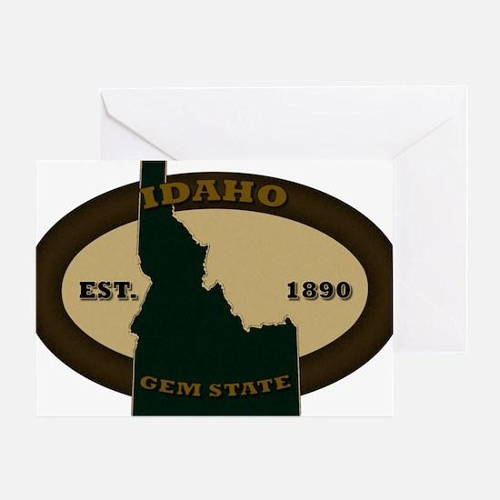 Idaho Est 1890 Greeting Card