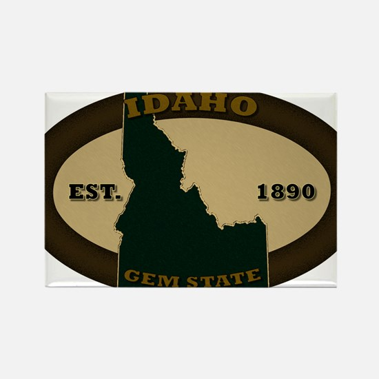 Idaho Est 1890 Rectangle Magnet