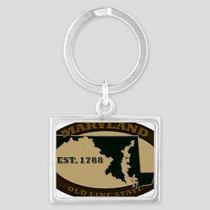 Maryland Est 1788 Landscape Keychain