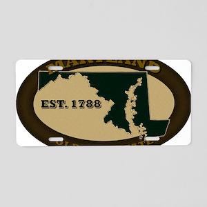 Maryland Est 1788 Aluminum License Plate