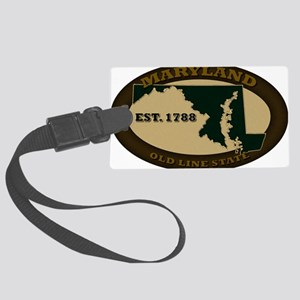Maryland Est 1788 Large Luggage Tag