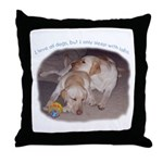 Sleep with Labs Throw Pillow