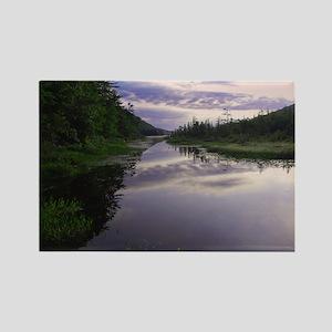 Adirondack Inlet at Sunrise Rectangle Magnet