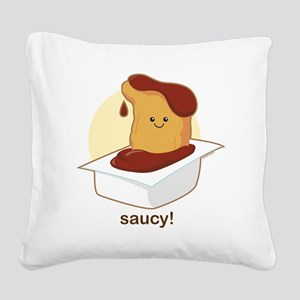 Saucy Square Canvas Pillow