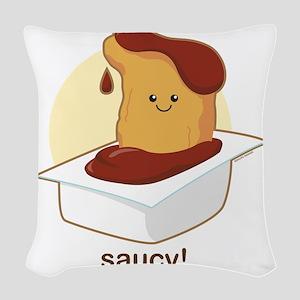 Saucy Woven Throw Pillow