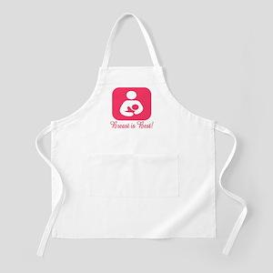 Breastfeeding Symbol in Pink BBQ Apron