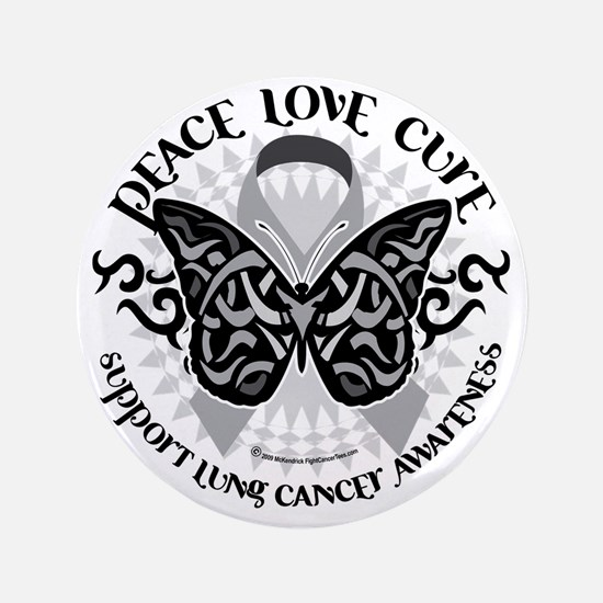 "Lung-Cancer-Butterfly-Tribal 3.5"" Button"