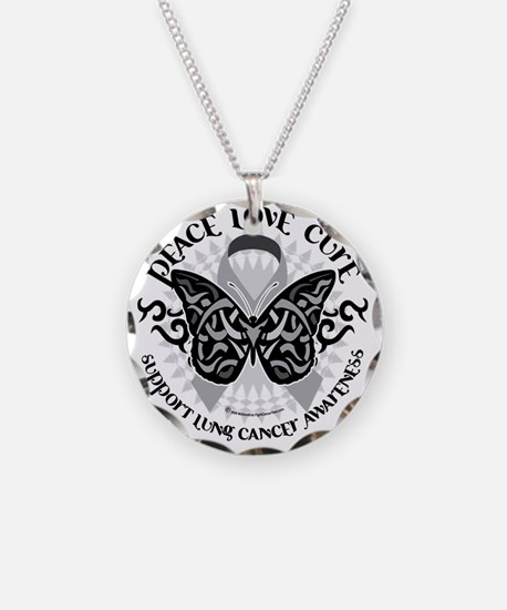 Lung-Cancer-Butterfly-Tribal Necklace
