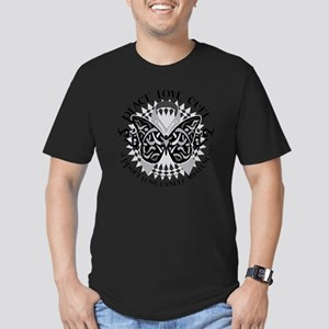 Lung-Cancer-Butterfly- Men's Fitted T-Shirt (dark)