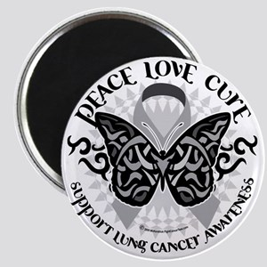 Lung-Cancer-Butterfly-Tribal Magnet