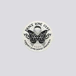 Lung-Cancer-Butterfly-Tribal Mini Button