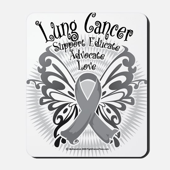 Lung-Cancer-Butterfly-3 Mousepad