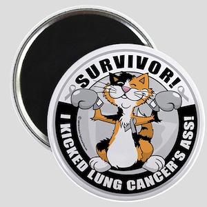 Lung-Cancer-Cat-Survivor Magnet
