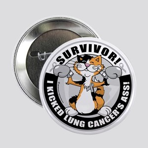 "Lung-Cancer-Cat-Survivor 2.25"" Button"