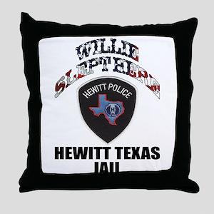 Hewitt Texas Jail Throw Pillow