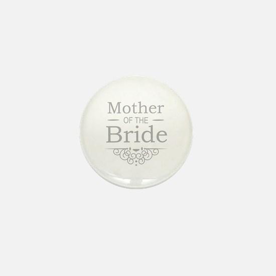 Mother of the Bride silver Mini Button