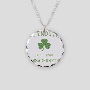 plymouth-massachusetts-irish Necklace Circle Charm