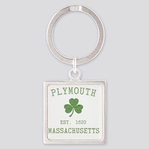plymouth-massachusetts-irish Square Keychain
