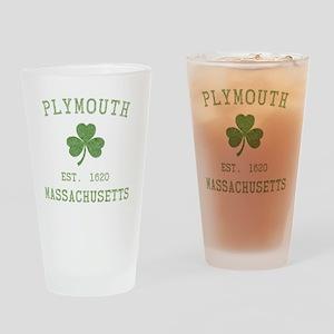 plymouth-massachusetts-irish Drinking Glass