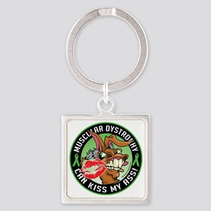 Muscular-Dystrophy-Can-Kiss-My-Ass Square Keychain