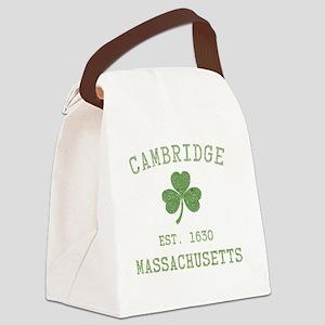 cambridge-massachusetts Canvas Lunch Bag