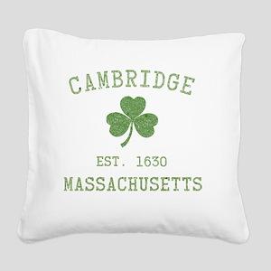 cambridge-massachusetts Square Canvas Pillow