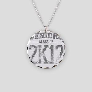 2k12_grey Necklace Circle Charm