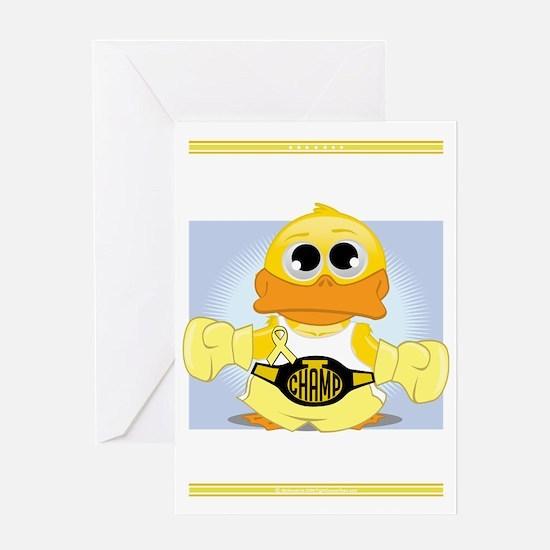 Knock-Out-Spina-Bifida-blk Greeting Card