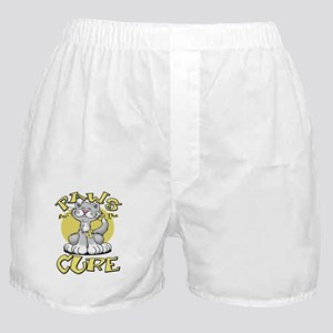 Paws-for-the-Cure-Cat-Spina-Bifida-bl Boxer Shorts