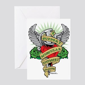 Muscular-Dystrophy-Dagger Greeting Card