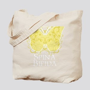 Spina-Bifida-Butterfly-blk Tote Bag