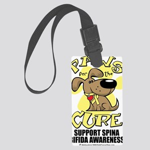Paws-for-the-Cure-Spina-Bifida Large Luggage Tag