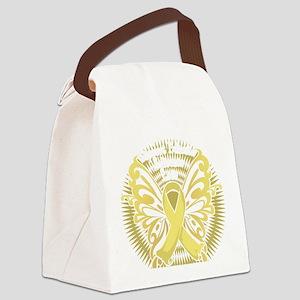 Spina-Bifida-Butterfly-3-blk Canvas Lunch Bag