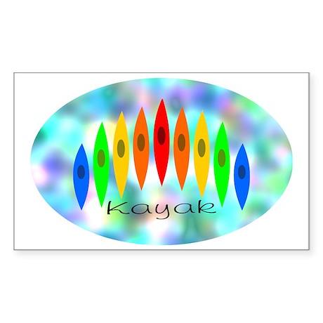 2-Tintedrainbowoval Sticker (Rectangle)