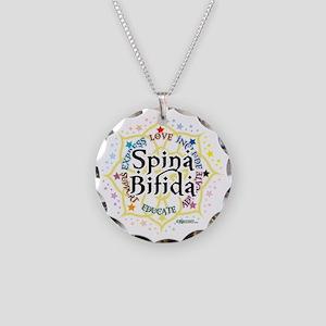 Spina-Bifida-Lotus Necklace Circle Charm