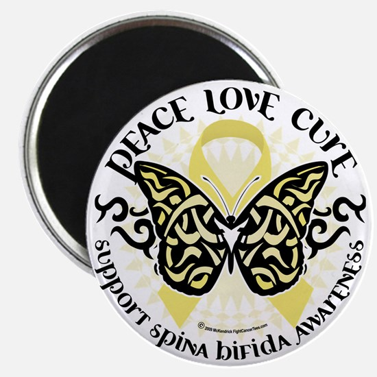 Spina-Bifida-Tribal-Butterfly Magnet