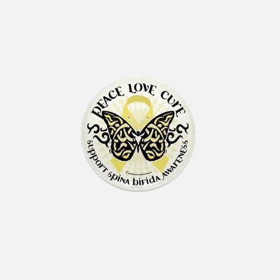 Spina-Bifida-Tribal-Butterfly Mini Button