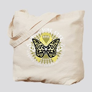 Spina-Bifida-Tribal-Butterfly-blk Tote Bag