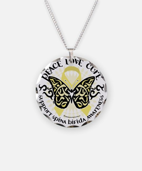 Spina-Bifida-Tribal-Butterfl Necklace