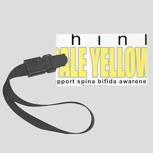 think-PALE-YELLOW-Spina-Bifida Large Luggage Tag