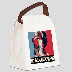 Let them eat change square MA Canvas Lunch Bag