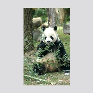 Panda Eating Rectangle Sticker