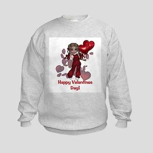 Happy Valentines Day Kids Sweatshirt