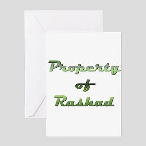Property Of Rashad Male Greeting Card