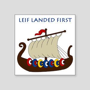 "Leif2 Square Sticker 3"" x 3"""